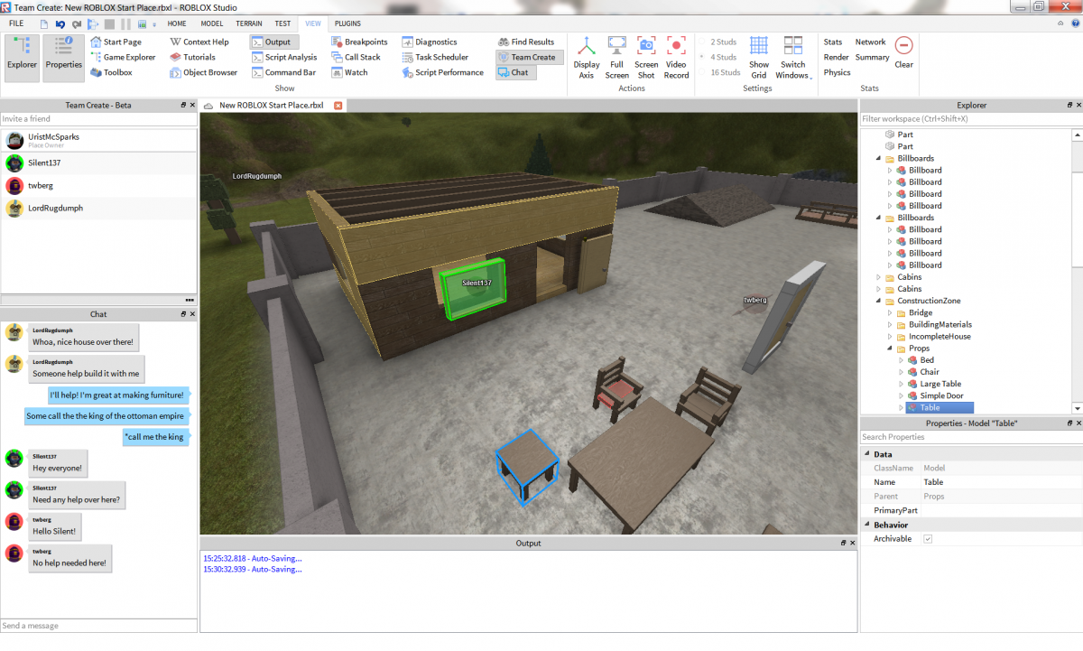 Work Together On Roblox Projects With Team Create Roblox Blog
